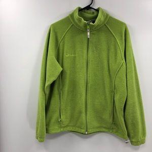 Columbia Lime Green Fleece Full Zip Jacket